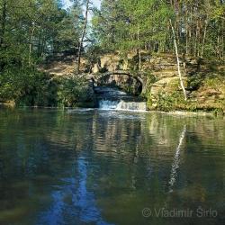 Výpusť z Mlýnského rybníka
